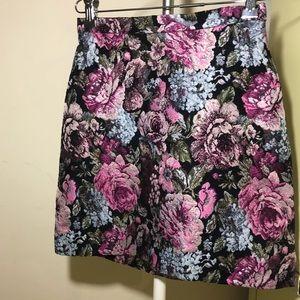 H&M High Waisted Floral Skirt